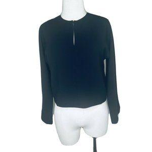 NWOT  J. CREW 365 blouse top shirt L2327 Black 0